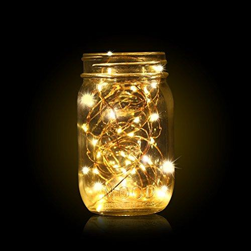 YIHONG 6 PCS Fairy Lights LED String Lights Battery Operated 7.2ft 20 Leds Firefly Lights Starry String Lights For Costume, Wedding, Bedroom, Halloween, Easter, Christmas Decoration (Warm White)