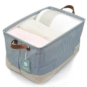 Organizing Baskets for Clothing Storage - Storage Baskets Made From Eco-friendly Cotton. Works As Fabric Drawer, Baby Storage, Toy Storage. Nursery Baskets Fit Most Shelves - zingydecor