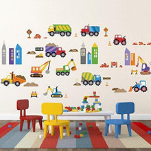 Load image into Gallery viewer, City Construction Decorative Peel & Stick Wall Art Sticker Decals - zingydecor