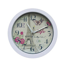 Load image into Gallery viewer, Eiffel Tower Silent Sweep Modern Graceful Bell Desk Creative Digital Alarm Clock (Black)