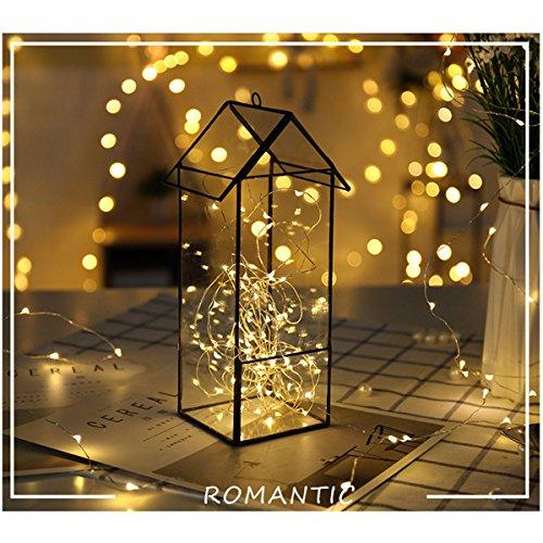 FRIEET Starry String Lights, 12 Pack Fairy Lights Battery Operated, 7.2ft 20LED Christmas Lights Silver Coated Copper Wire Lights Firefly Lights Moon Lights for Party Christmas Decorations(White)