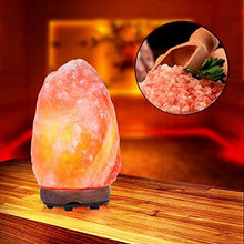 Load image into Gallery viewer, SMAGREHO Natural Himalayan Salt Lamp, Hand Carved Crystal Glow Rock Lamp,Includes Neem Wood Base / Bulb, UL Listed On and off function Dimmer Switch (6-7 inch, 4 - 5lbs)