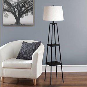 Catalina 19305-000 3-Way 58-inch Étagère Floor Lamp, with Distressed Iron Paint - zingydecor