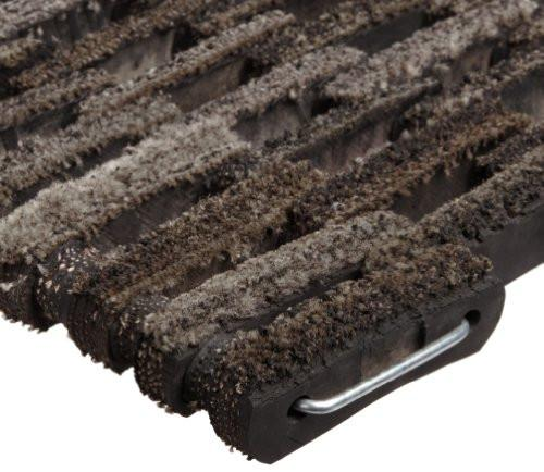 "Durable Corporation 400 Dura-Rug Fabric Tire-Link Entrance Mat, for Outdoors and Vestibules, 14"" Width x 22"" Length x 3/4"" Thickness, Natural"