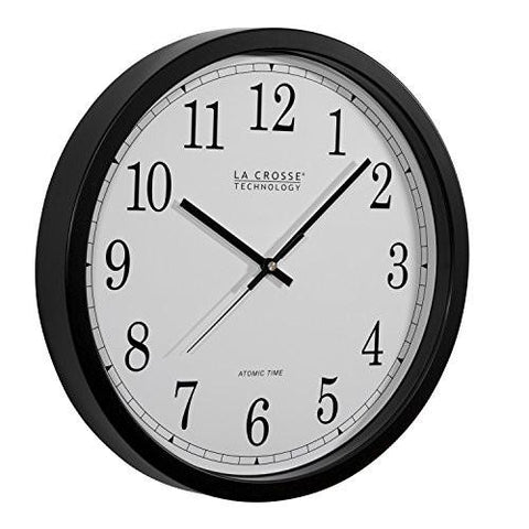 Image of La Crosse Technology WT-3143A-INT 14-Inch Atomic Wall Clock, Black