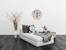 Load image into Gallery viewer, Wall Clock Decorative Silent Wall Clock Non Ticking Ocean Theme White Wall Clocks 12-Inch for Bedroom Living Room Bathroom Decorations (Lighthouse) - zingydecor