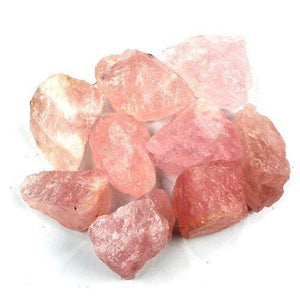 "Crystal Allies Materials: 1lb Bulk Rough Pink Rose Quartz Crystals from Brazil - Large 1"" Raw Natural Stones for Cabbing, Cutting, Lapidary, Tumbling, and Polishing & Reiki Crystal Healing"