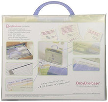 Load image into Gallery viewer, Baby Briefcase Baby Paperwork Organizer, Mint/Periwinkle - zingydecor