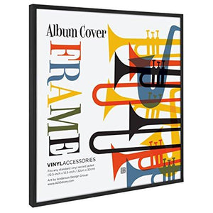 "Top Rated Album Frame - Made to Display Album Covers and LP Covers 12.5"" x 12.5"" - Hanging Hardware Installed and No Assembly Required - Easy to Use Album Frame, Album Cover Frame"