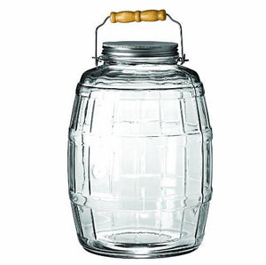 Anchor Hocking 2.5-Gallon Glass Barrel Jar with Brushed Aluminum Lid - zingydecor
