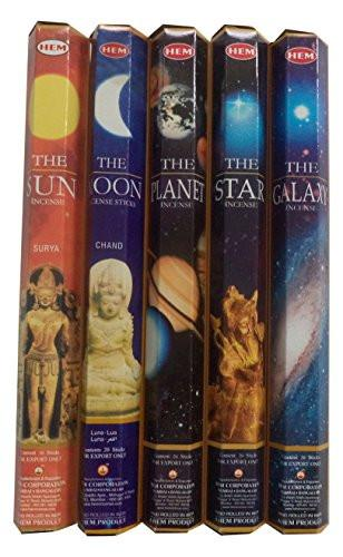 Hem Celestial Incense Variety Sun Moon Star Planet Galaxy, 100 Stick - zingydecor