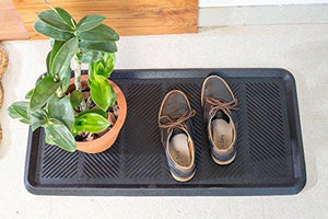 2 Pack Iron Gate Heavy Duty 100% Rubber Bigfoot Boot Tray - zingydecor