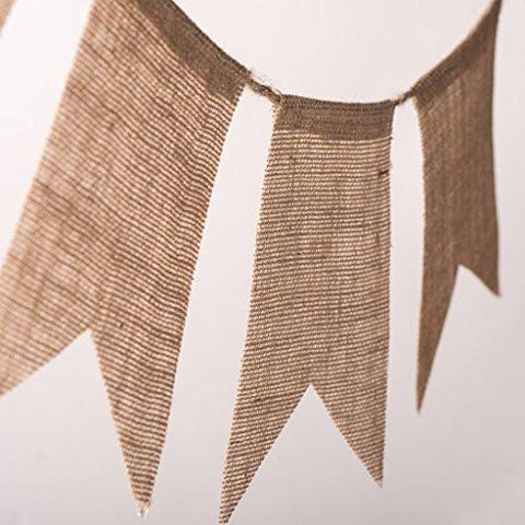 Image of 30 Pcs DIY Burlap Banner 29Ft Hand Painted Decoration for Wedding Birthday and Kids Party - zingydecor