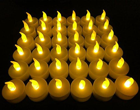 Image of Flameless LED Tea Light Candles, Vivii Battery-powered Unscented LED Tealight Candles, Fake Candles, Tealights (36 Pack)