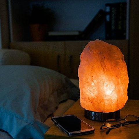 "Image of Levoit Kyra Himalayan Salt Lamp, Natural Hymalain Pink Salt Rock Lamps(5-8 lbs,6.5-9"" ),Best Christmas Decorations & Gifts, Himilian Sea Salt Crystal Night Light with Touch Dimmer Switch,3 Bulbs"