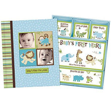 Load image into Gallery viewer, Baby Boy Memory Book Hardcover Record Babys First Five Years Diary Precious Moments Milestone... - zingydecor
