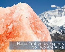 Load image into Gallery viewer, Himalayan Glow Hand Carved Natural Crystal Himalayan Salt Lamp With Genuine Wood Base, Bulb And On and Off Switch 6 to 8 Inch, 6 to 7 lbs. 2 PACK - zingydecor