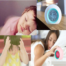 Load image into Gallery viewer, Alarm Clock for Kids, Vekey Wake Up Clock Night Light Digital Alarm Clock Glowing LED Backlight Alarm Clocks for Bedrooms and Office Desk - zingydecor