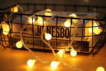 Load image into Gallery viewer, RaThun Globe String Lights, 49ft 100 LED Warm White Waterproof Decorative Fairy String Lights Perfect for Indoor and Outdoor Use,Plug in String Lights with 29V Low Voltage Transformer - zingydecor