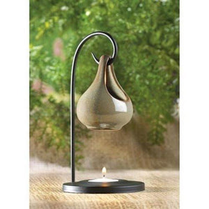 Gifts & Decor Folk Art Porcelain Tear Drop Oil Warmer Candle Holder - zingydecor