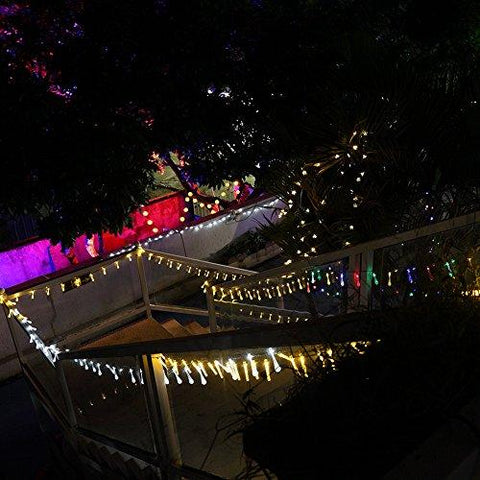 GDEALER Solar Outdoor String Lights 20ft 30 LED Water Drop Solar String Fairy Waterproof Lights Christmas Lights Solar Powered String lights for Garden, Patio, Yard, Home, Christmas Tree, Parties