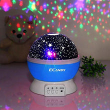 Ecandy Constellation Night Light Projector Lamp 360 Degree Rotating 3 Mode Romantic Cosmos Star... - zingydecor