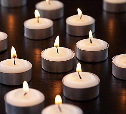 Zion Judaica Quality Tealight Candles Unscented Set of 120 - Stark White - zingydecor