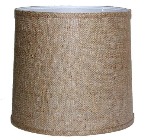 A Ray Of Light 121312BUR 12-Inch by 13-Inch by 12-Inch Brown Burlap Drum Shade - zingydecor