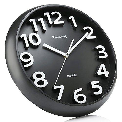 Large Number Wall Clock Plumeet 13 Silent Wall Clock With Large