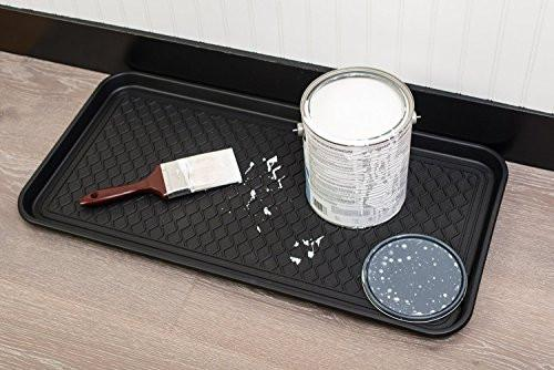 "California Home Goods Multi-Purpose Boot Mat & Tray for Indoor and Outdoor Floor Protection, 30"" x 15"" x 1.2"""