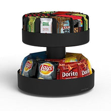 Load image into Gallery viewer, Mind Reader 'Supreme' Lazy Suzan 2 Tiered Breakroom Snack Organizer, Black - zingydecor