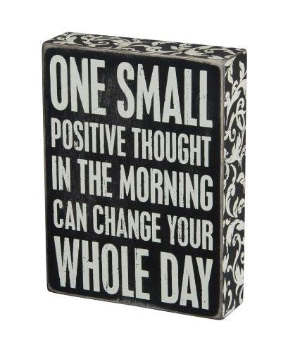 Primitives by Kathy Box Sign, 6 by 8-Inch, Positive Thought - zingydecor