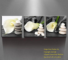 "Canvas Wall Art -Stretched and Framed Giclee Canvas Prints ""White Lily"" Flowers Art Prints for Wall Decor - zingydecor"