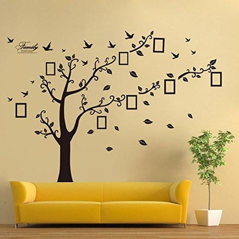 ... Large Family Tree Wall Decal. Peel U0026 Stick Vinyl Sheet, Easy To Install  ...