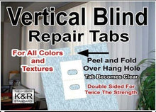 Load image into Gallery viewer, Vertical Blind Repair Tabs, 10 Tabs - zingydecor