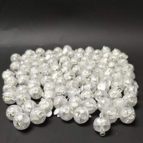 Accmor 100pcs LED Mini Round Ball Balloon Light, Long Standby Time Ball Lights for Paper Lantern Balloon Party Wedding Decoration(White) - zingydecor