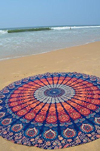 The Boho Street Branded Cotton Mandala Roundies, Beach Throw, Indian Mandala Tapestry, Yoga Mat, Picnic Mat ,Table throw - zingydecor