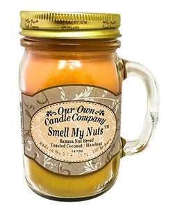 Our Own Candle Company Smell My Nuts Scented Mason Jar Candle, 13 oz. - zingydecor