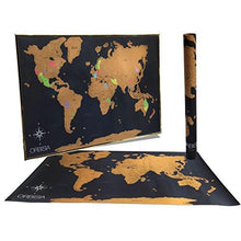 "Load image into Gallery viewer, Deluxe Scratch Off World Map - Includes Precision Scratch Off Tool and Gift Ready Packaging - Scratch Off World Travel Tracker Map - 24x36"" Size Fits Common Poster Frames - zingydecor"