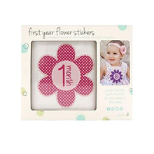 Load image into Gallery viewer, Tiny Ideas First Year Monthly Milestone Flowers Photo Sharing Baby Belly Stickers, 1-12 Months, Pink