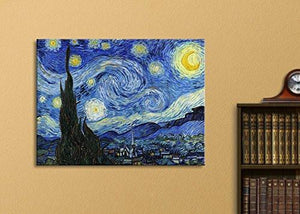 "Wall26 Starry Night by Vincent Van Gogh - Canvas Wall Art Modern Home Decor Bedroom and Living Room Decorations Oil Painting Reproduction - 16"" x 20"""