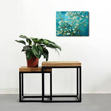 Wieco Art - Almond Blossom Modern Framed Floral Giclee Canvas Prints By Van Gogh Famous Oil Paintings Reproduction Flowers Pictures on Canvas Wall Art Ready to Hang for Bedroom Home Decorations - zingydecor