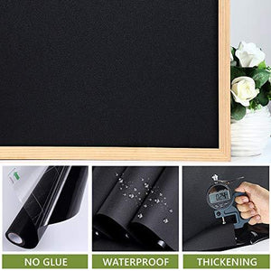 Static Cling Total Blackout Window Film Privacy Room Darkening Window Tint Black Window Cover 100% Light Blocking No Glue (17.7 x 78.7 inches) - zingydecor