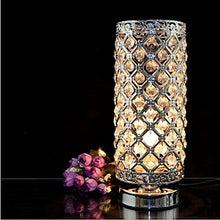 Load image into Gallery viewer, Crystal Silver Table Lamp - zingydecor
