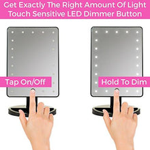 Load image into Gallery viewer, Natural Daylight Lighted Makeup Mirror / Vanity Mirror with Touch Screen Dimming, Detachable 10X Magnification Spot Mirror, Portable Convenience and High Definition Clarity Cosmetic Mirror - zingydecor