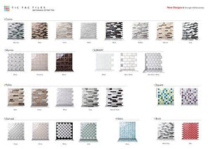 Tic Tac Tiles Anti-mold Peel and Stick Wall Tile in Polito Bella (10) - zingydecor