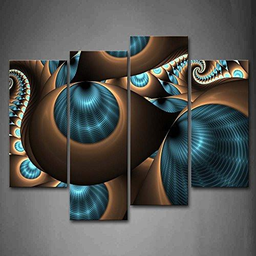 Abstract Blue Brown Like Several Holes Wall Art Painting The Picture Print On Canvas Abstract Pictures For Home Decor Decoration Gift - zingydecor