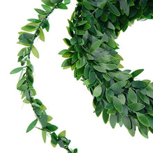 Load image into Gallery viewer, 24.6 Yards Artificial Ivy Garland Foliage Green Leaves Fake Vine for Wedding Party Ceremony DIY Headbands - zingydecor