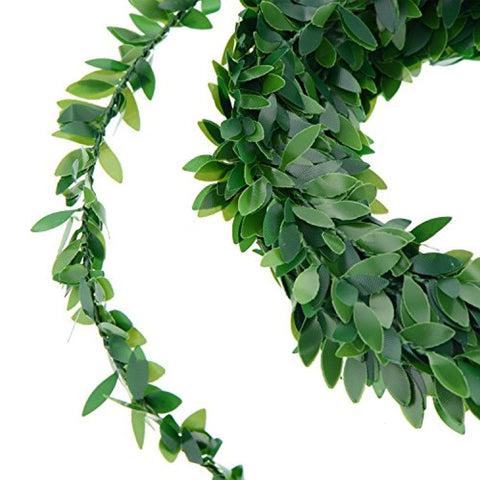 24.6 Yards Artificial Ivy Garland Foliage Green Leaves Fake Vine for Wedding Party Ceremony DIY Headbands - zingydecor
