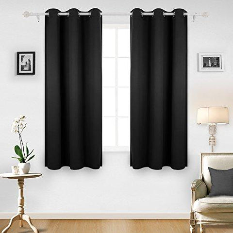 Image of Deconovo Room Darkening Thermal Insulated Blackout Grommet Window Curtain for Living Room, 42x63-inch,1 Panel